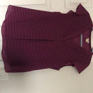 J Crew polka dot blouse